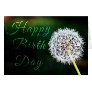 Happy birthday card w/flower