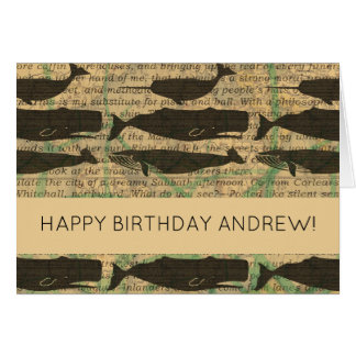 Happy Birthday Card Whale Custom Template