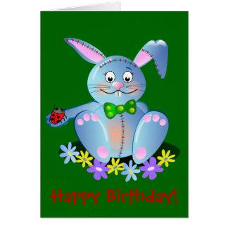 Happy Birthday card with Bunny