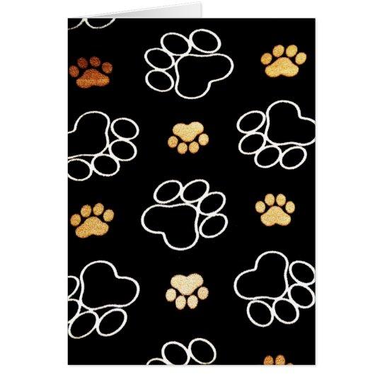 Happy Birthday Card with Dog Paw Prints