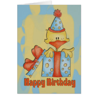 Happy Birthday Card with Duck