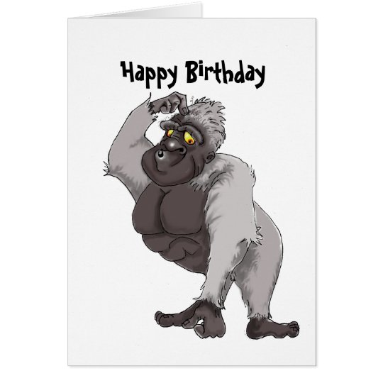 Happy Birthday Card with Gorilla song
