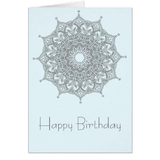 Happy Birthday card with mandala
