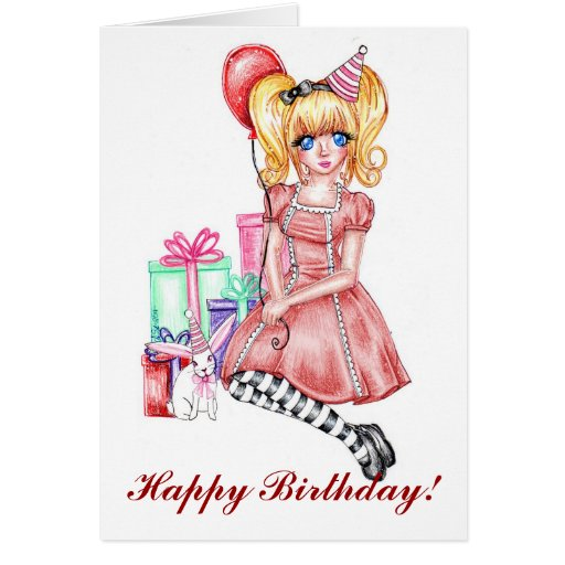 Happy Birthday Cards (Red)