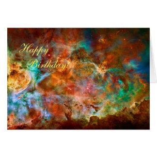 Happy Birthday - Carina Nebula in Argo Navis Greeting Card