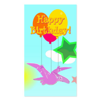 Happy Birthday Cartoon Dinosaurs Small Cards Pack Of Standard Business Cards