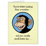 Happy Birthday: Cartoon Monkey Greeting Card