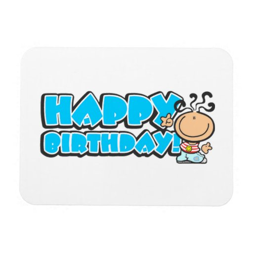 Happy Birthday cartoon Premium Flexi Magnet