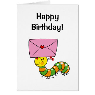 Happy birthday (caterpillar) card