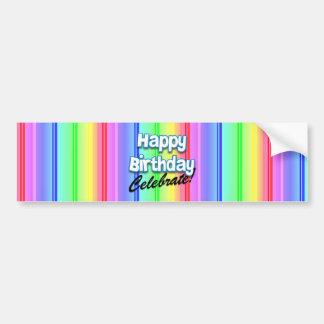 Happy Birthday Celebrate Bumper Sticker