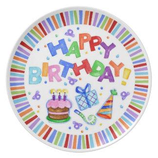 Happy Birthday Celebration Plate