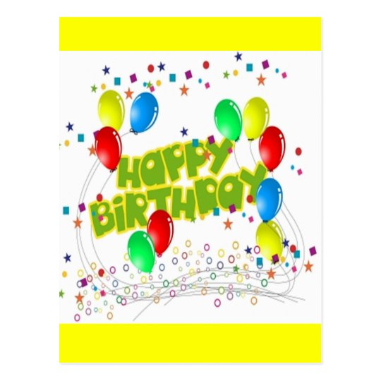 Happy Birthday Celebrations Postcard