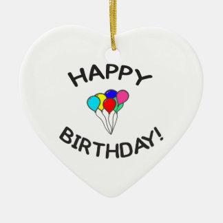 Happy Birthday! Ceramic Heart Decoration