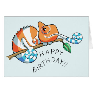 Happy Birthday Chameleon Card