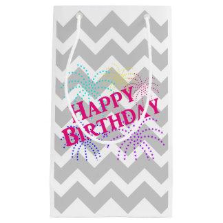 Happy Birthday Chevron Star Fireworks Gift Bag
