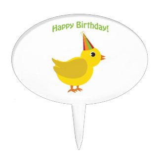Happy Birthday! chick Cake Picks