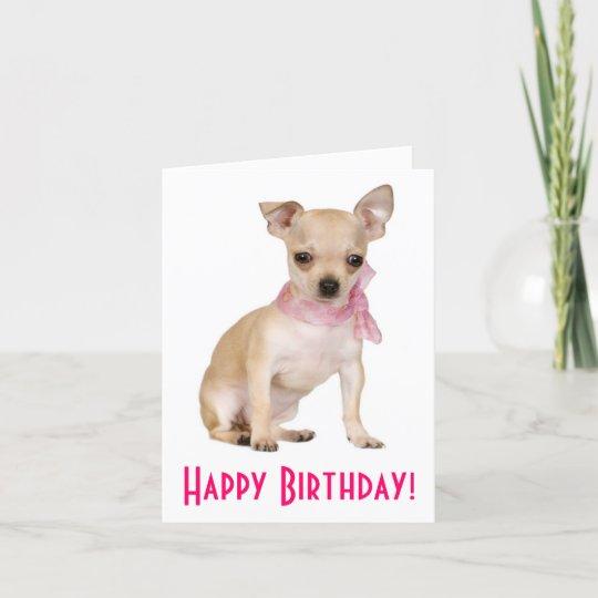 Happy Birthday Chihuahua Puppy Dog Greeting Card Zazzle