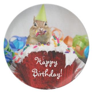 Happy Birthday Chipmunk Plate