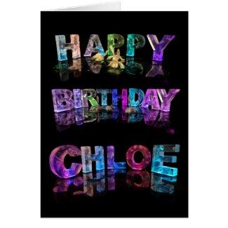 Happy Birthday Chloe Card