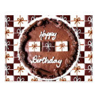 """Happy Birthday"" Chocolate Cake Postcard"