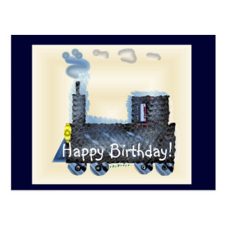 Happy Birthday Choo Choo Postcard
