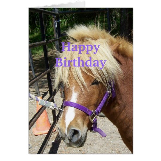 Happy Birthday Christian Card Pony