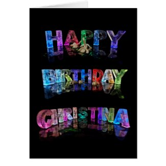 Happy Birthday Christina Card