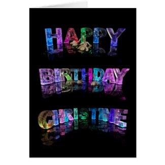 Happy Birthday Christine Card