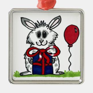 'Happy Birthday!' Chubby Bunny Design Christmas Ornament