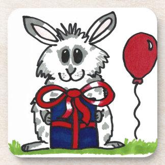 'Happy Birthday!' Chubby Bunny Design Coaster