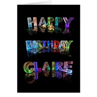Happy Birthday Claire Card