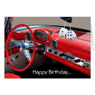 Classic Car Happy Birthday Cards Invitations Zazzle Co Uk
