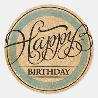 Happy Birthday Classic Round Sticker