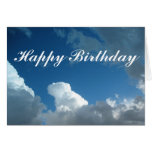 Happy Birthday clouds Greeting Card