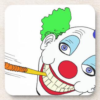 Happy Birthday Clown Beverage Coasters