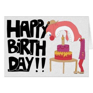 Happy Birthday Clown Card