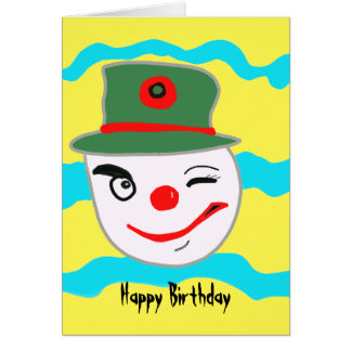 Happy Birthday Clown Cards