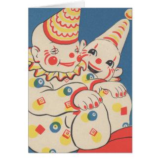 Happy Birthday Clowns Card