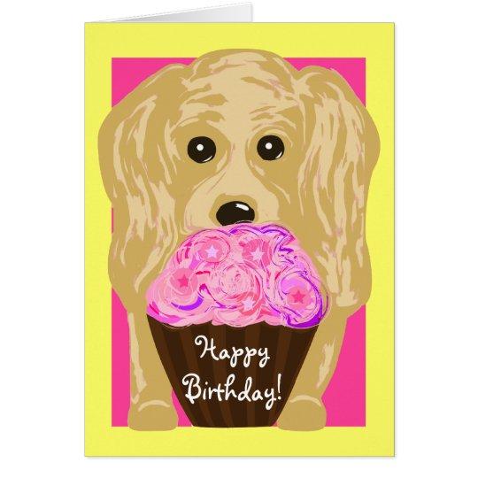Happy Birthday! Cocker Spaniel Art Card