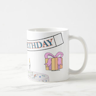 Happy Birthday Coffee Cup Basic White Mug