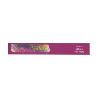 Happy Birthday Colorburst Labels