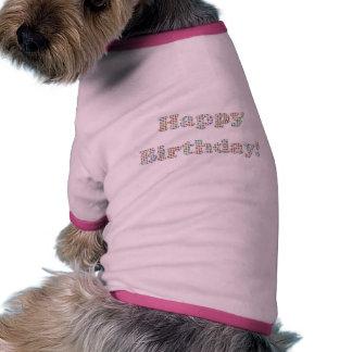 Happy Birthday Colorful Circles Pet Tee