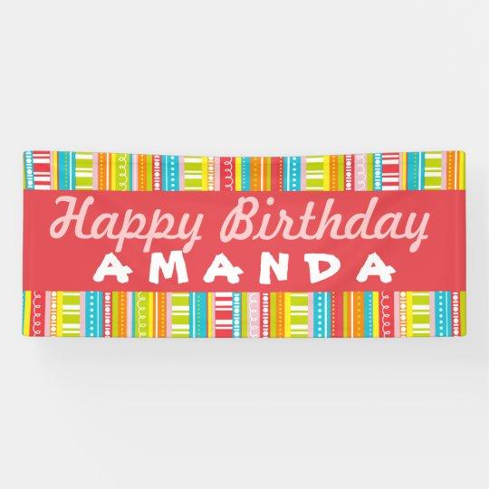 Happy Birthday Colourful Celebration Banner
