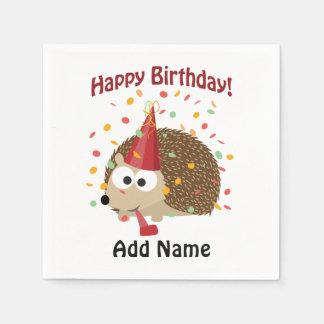 Happy birthday Confetti Hedgehog Disposable Napkins