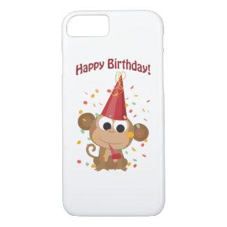 Happy Birthday! Confetti Monkey iPhone 7 Case