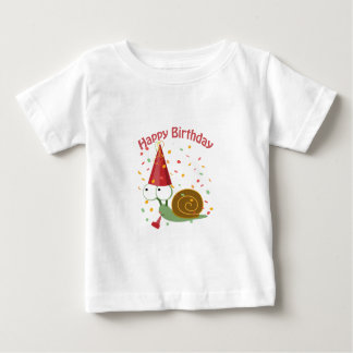 Happy Birthday! Confetti Snail T-shirts
