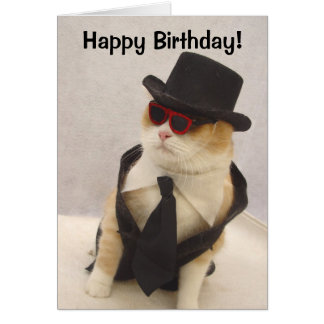 Happy Birthday, Cool Cat! Greeting Card