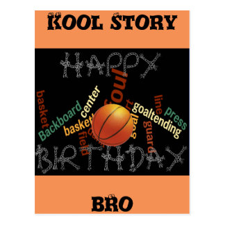 HAPPY  BIRTHDAY Cool Story Bro Basketball Sport Postcard