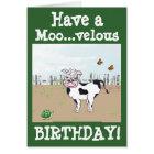 Happy Birthday - Cow Customisable Card