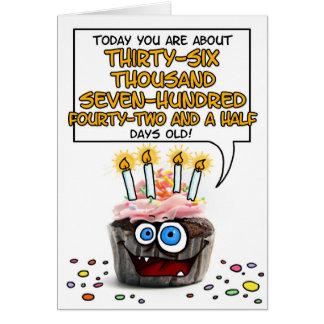 Happy Birthday Cupcake - 100 years old Greeting Card